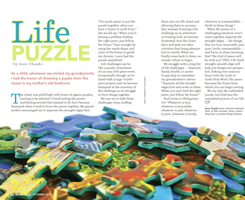 Overcome, Session 1: Life Puzzle