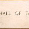 Hall of Fame etched in stone