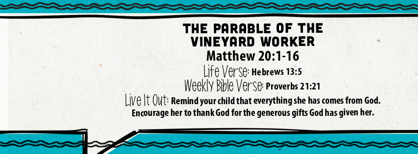 Week of July 31—The Parable of the Vineyard Workers—Social Media Plan