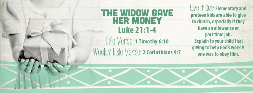 Week of August 21—The Widow Gave Her Money—Social Media Plan