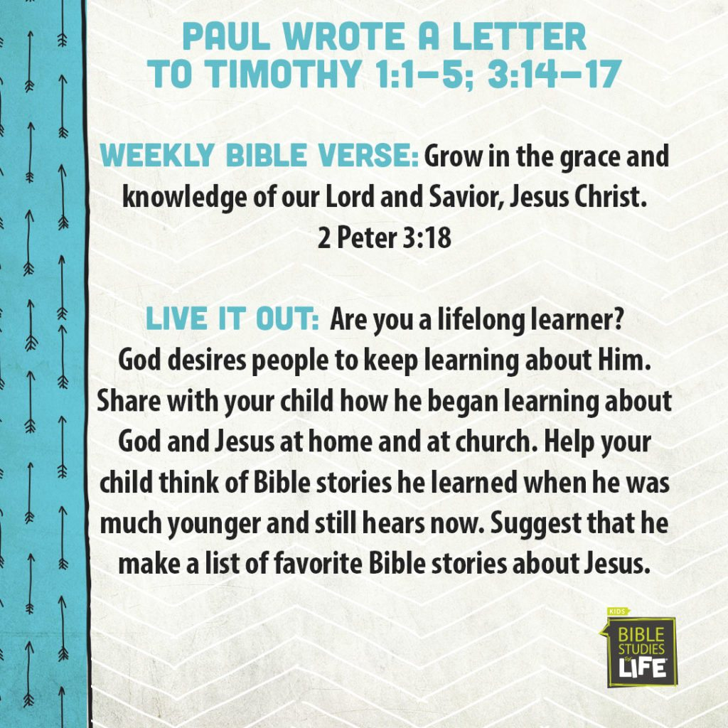 Week of August 20—Paul Wrote a Letter to Timothy—Social